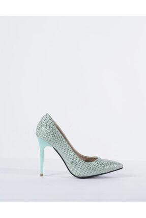 Vision Kadın Yeşil Topuklu Ayakkabı