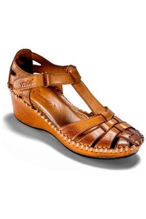 Venüs Kadın Kahverengi Günlük Hakiki Deri Sandalet 18791382