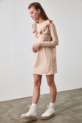 TrendyolMilla Taş Brode Detaylı Örme Elbise TWOAW21EL1079