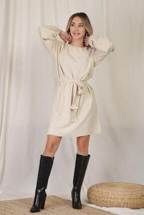 Zindi Kadın Bej Triko Elbise