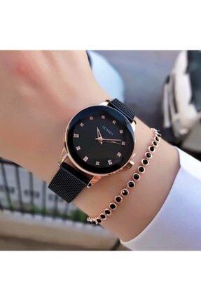 Homies Kadın Siyah Renk Hasır Kol Saati
