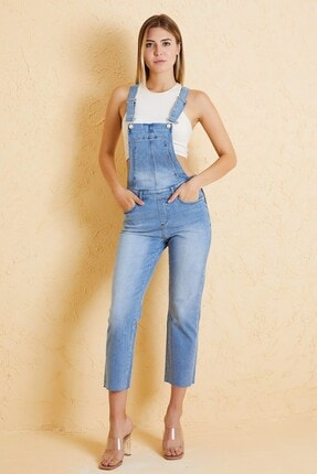 Twister Jeans Kadın Mavi Salopet