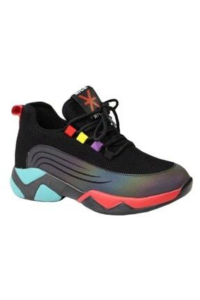 Guja 20k355-1 Kadın Antomik Sneaker Spor Ayakkabı Siyah