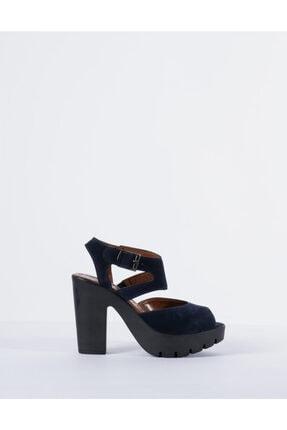 Vision Kadın Lacivert Kemerli Süet Ayakkabı
