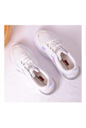 Jump Kadın Beyaz Bağcıklı Ayakkabı