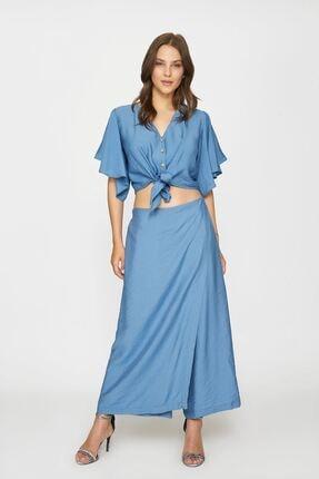Batik Kadın Mavi  Duz Casual Bluz