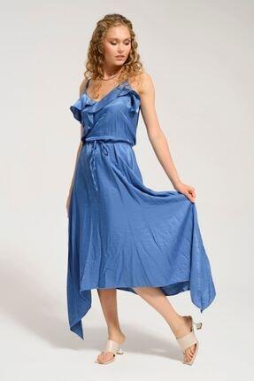 Batik Kadın Lacivert Düz Casual Elbise