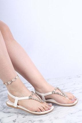 Guja Kadın Beyaz İthal Sandalet 21y210-8