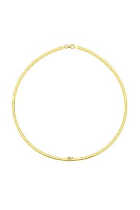LUZDEMIA Kadın Gold Snake Necklace Kolye 925  3mm