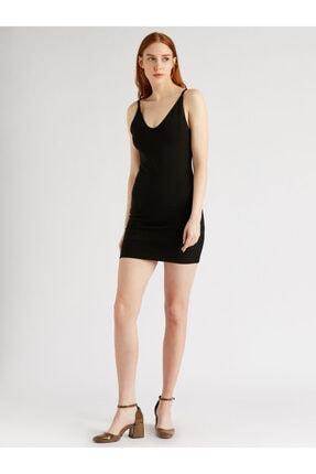 Vekem Kadın Siyah Ip Askılı Sırt Dekolteli Mini Elbise