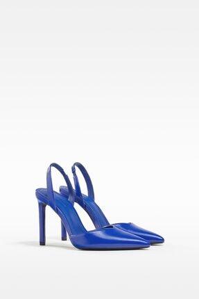 Bershka Kadın Mavi İnce Topuklu Ayakkabı
