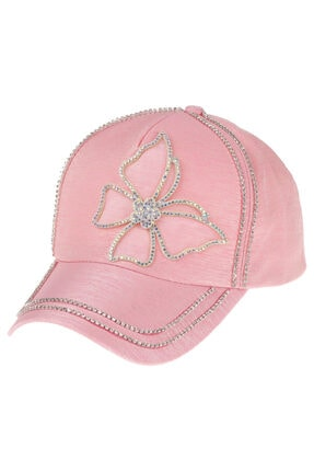 Kitti Kadın Şapka Taş Işlemeli (PEMBE)