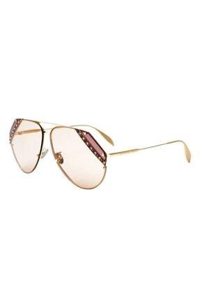 Alexander McQueen Kadın Güneş Gözlüğü Damla Model Kahverengi Cam Uv400