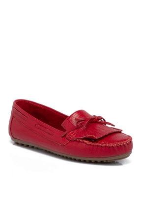 Tergan Kadın  Kırmızı Deri Ayakkabı 65388b68