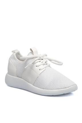 Tergan Kadın Beyaz Bağcıklı Ayakkabı