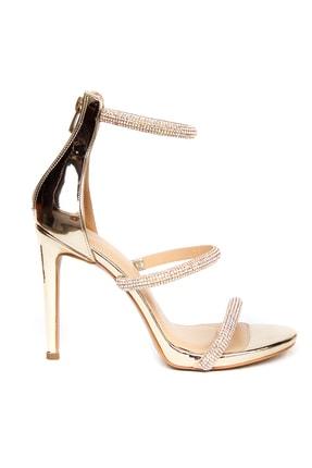 Kriste Bell Kadın Gold Topuklu Ayakkabı