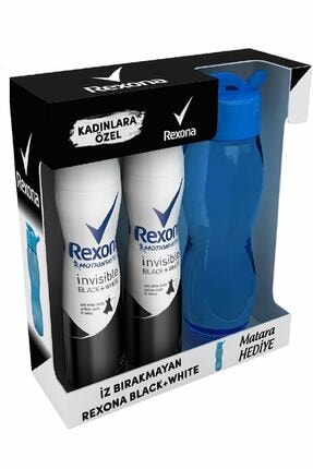 Rexona Invisible Black & White Kadın Deodorant 150 ml 2'li + Matara