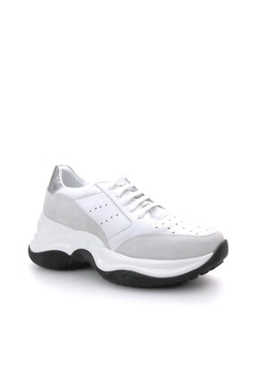 Beta Hakiki Deri Kadın Beyaz Sneaker