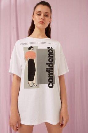 Fashion Friends Baskılı Oversize Tişört 0569b1