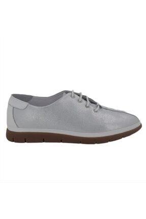 Hobby Kadın Beyaz Gümüş Casual Ayakkabı