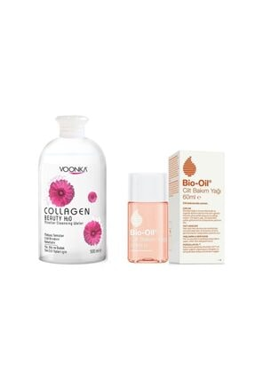 Bio Oil Antı Age Etkili Cilt Bakım Yağı 60 Ml+collagen Beauty Mıcellar Su 500 Ml