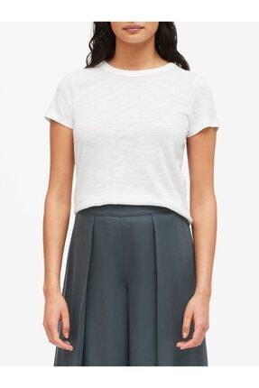 Banana Republic Kadın Beyaz Yuvarlak Yakalı Kısa Kollu T-Shirt 551544