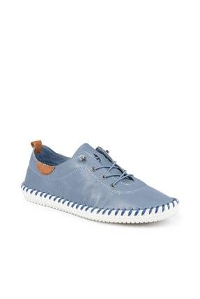 Beta Hakiki Deri Kadın Kot Mavi Günlük Ayakkabı