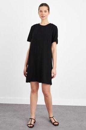 adL Kadın Siyah Kısa Kollu Elbise