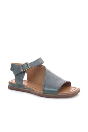 Beta Hakiki Deri Kadın Yeşil Sandalet