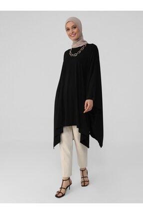 Refka Kadın Siyah Yanları Yırtmaçlı Sandy Tunik