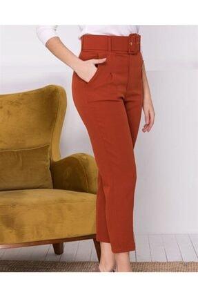 ALFASA Kadın Turuncu Kemerli Havuç Pantolon