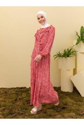 Loreen Kırmızı Desenli Elbise