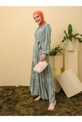 Loreen Desenli Elbise - Çağla -