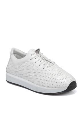 Tergan Kadın Beyaz Deri Ayakkabı 65586a26