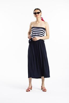 Pitti Kadın Lacivert Çizgili Elbise 50975e