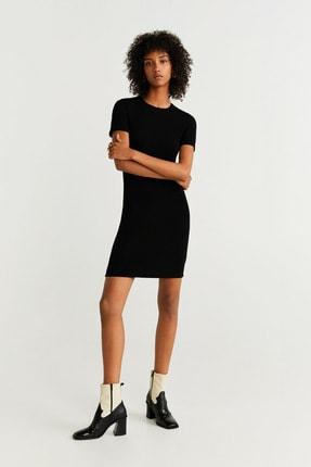 Mango Kadın Siyah Elbise 51043761