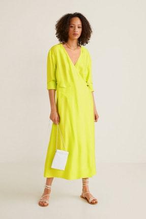 Mango Kadın Neon Sarı Elbise 53040907