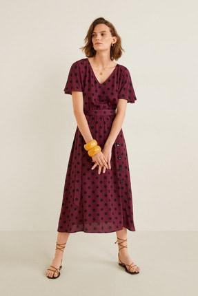 Mango Kadın Bordo Elbise 53053023