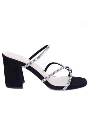 Kriste Bell Kadın Siyah Topuklu Terlik