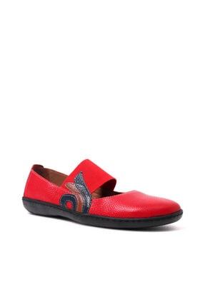 Beta Kadın Hakiki Deri Kırmızı Sandalet