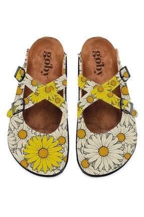 Goby Kadın Sarı Tasarım Terlik  Calista