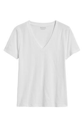 Banana Republic Supıma® V Yaka T-shirt