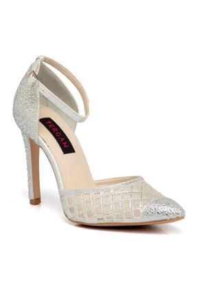 Tergan Kadın Lame Vegan Topuklu Ayakkabı 65522c33