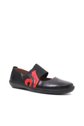 Beta Kadın Siyah Hakiki Deri Yazlık Ayakkabı