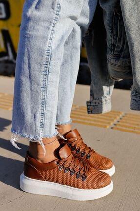 Chekich Kadın Kahverengi Bağcıklı Ayakkabı Ch021 Ybt