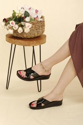 Oksit Giyim Roso Bantlı Kalın Taban Kadın Terlik
