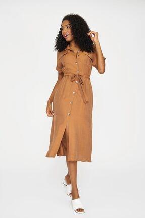 Batik Kadın Tarçın Düz Casual Elbise Y42820