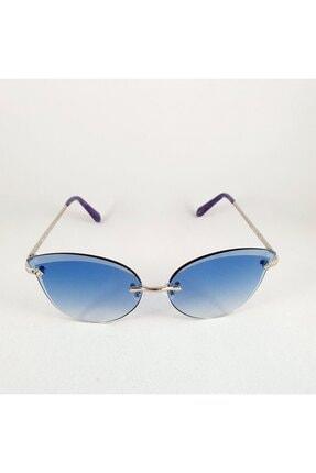 Benx Benx Oversize Cat Eye Tasarım Mavi Kadın Güneş Gözlüğü