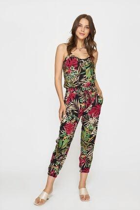 Batik Kadın Pembe Desenlı Casual Pantolon Y42818