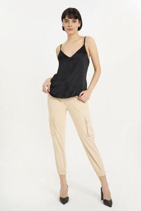 Batik Kadın Siyah Düz Casual Atlet Y10630